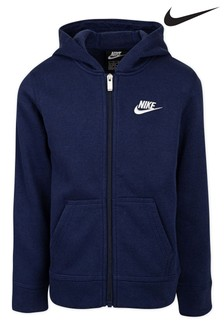 Nike Little Kids Navy Fleece Zip Through Hoodie