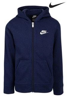 Nike Little Kids Navy Fleece Zip Through Hoody