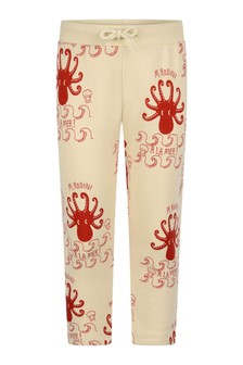 Girls Ivory Octopus Joggers