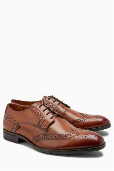 Chaussures richelieu style derby à pointure large