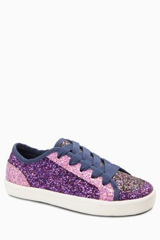 Glitter Colourblock Trainers (Older)