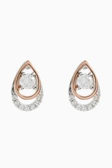 Two Tone Teardrop Earrings