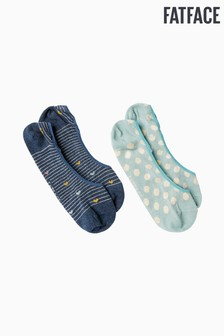 FatFace Blue Stripe Footsies Two Pack