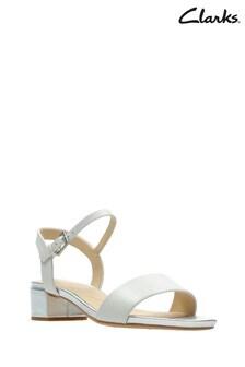 Clarks White Orabella Iris Sandal