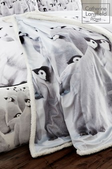 Catherine Lansfield Penguin Colony Throw