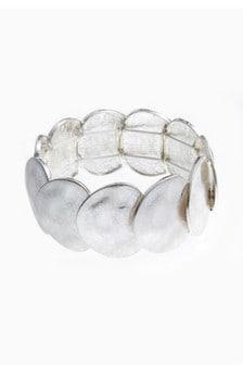 Dehnbares Armband mit gehämmerten Scheiben