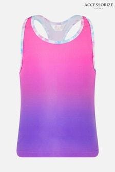Accessorize Pink Ombre Gym Vest
