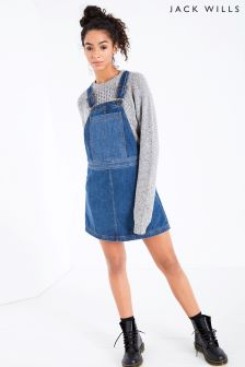 Jack Wills Indigo Cleverdon Dungaree Dress