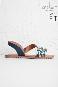 Seasalt Blue Sun Terrace Sandal Wide Fit