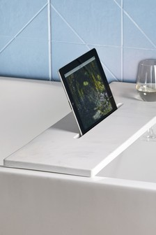 Bandeja de baño con efecto marmolado