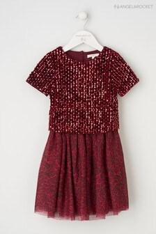 Angel & Rocket Red Sequin Top Animal Print Dress