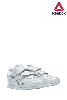 Reebok White/Silver Royal Junior Trainers