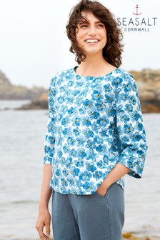 Seasalt Blue Tregarthen Top