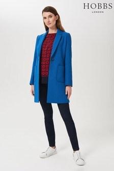 Hobbs Petite Blue Corina Coat