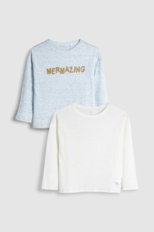 Long Sleeve Tops Two Pack (3-16yrs)