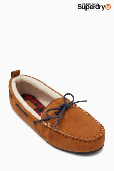 Superdry Tan Clinton Moccasin Slipper