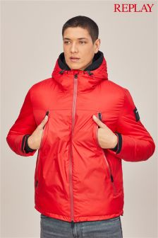 Replay® Red Hooded Jacket