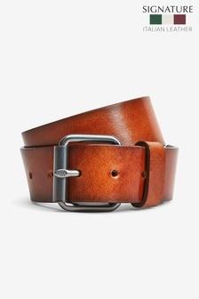 Signature Black Label Italian Leather Casual Belt