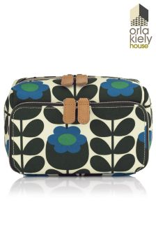 Orla Kiely Primrose Jade Medium Wash Bag
