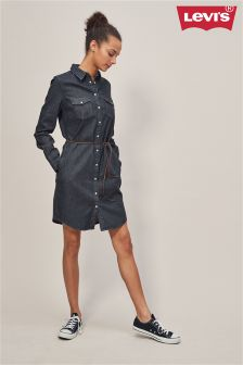 Levi's® Shiny Happy People Black Ultimate Western Shirt Dress