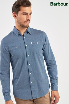 Barbour® Blue Somme Jacquard Shirt