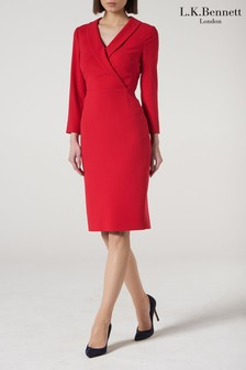 L.K.Bennett Red Effie Dress