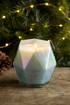 Fizz Iridescent Faceted Candle