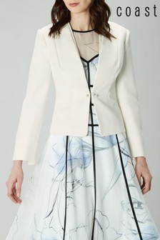 Coast White Lorna Long Jacket