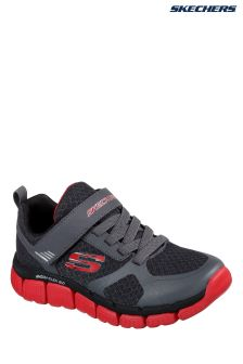 Skechers® Grey Flex 2.0 Swift Pulse Relaxed Fit Strap Sneaker