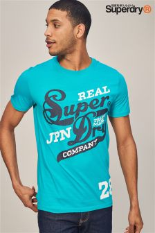 Superdry Teal Real Logo T-Shirt