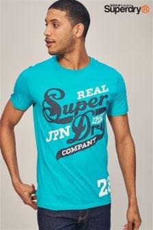 Superdry Teal Real Logo T-Shirt