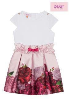 baker by Ted Baker Pink Rose Frill Mockable Dress