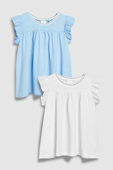 Frill Vests Two Pack (3mths-6yrs)