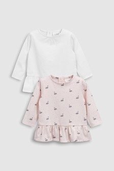 Swan T-Shirts Two Pack (0mths-2yrs)