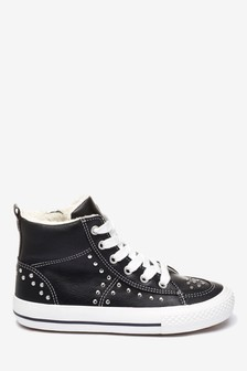 Studded High Top Trainers (Older)