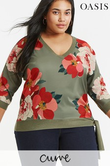 Oasis Green Curve Rosemary Jumper