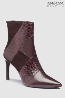 Geox Faviola Dark Burgundy Stiletto Heel Ankle Boot