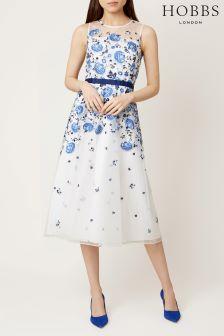 Hobbs Ivory Blue Alena Dress