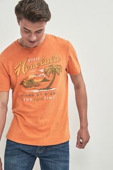 """Футболка с принтом и надписью """"Honolulu"""""""