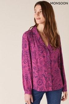 Monsoon Paisley Print Blouse With Lenzing™ EcoVero™