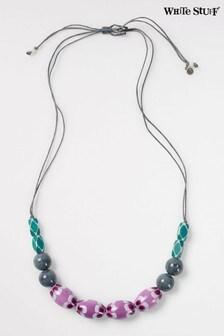 White Stuff Purple Cordelia Ceramic Necklace