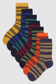 Stripe Socks Seven Pack (Older)