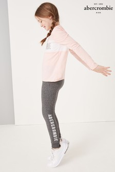 Abercrombie & Fitch Grey Logo Leggings