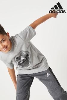 adidas Grey Predator T-Shirt
