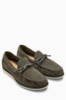 Suede Lace Loafer