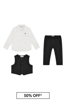 Emporio Armani Baby Boys Black Outfit