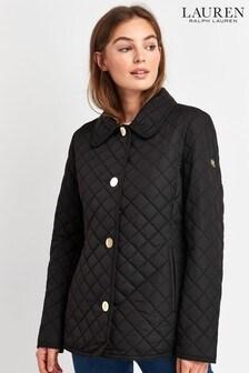Lauren Ralph Lauren Navy Quilted Blazer Jacket