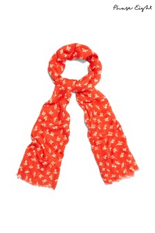 Phase Eight Red Franca Ditsy Floral Scarf