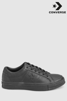 Converse Black/Black Leather One Star