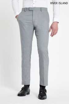 River Island Grey Suit Trouser